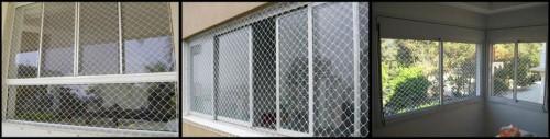 Rede de proteçao para janelas, sacadas, piscinas