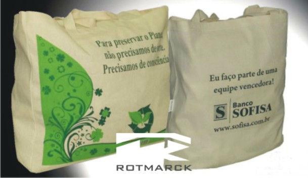 sacolas ecólogicas em algodão 1
