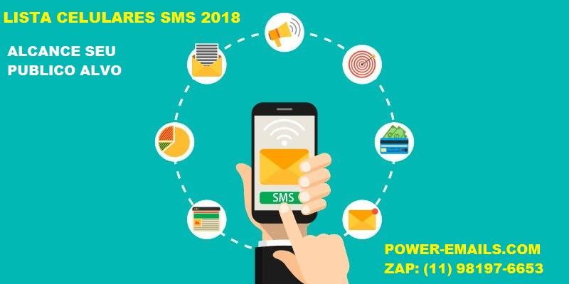 LISTA TELEFONES CELULARES SMS 2018