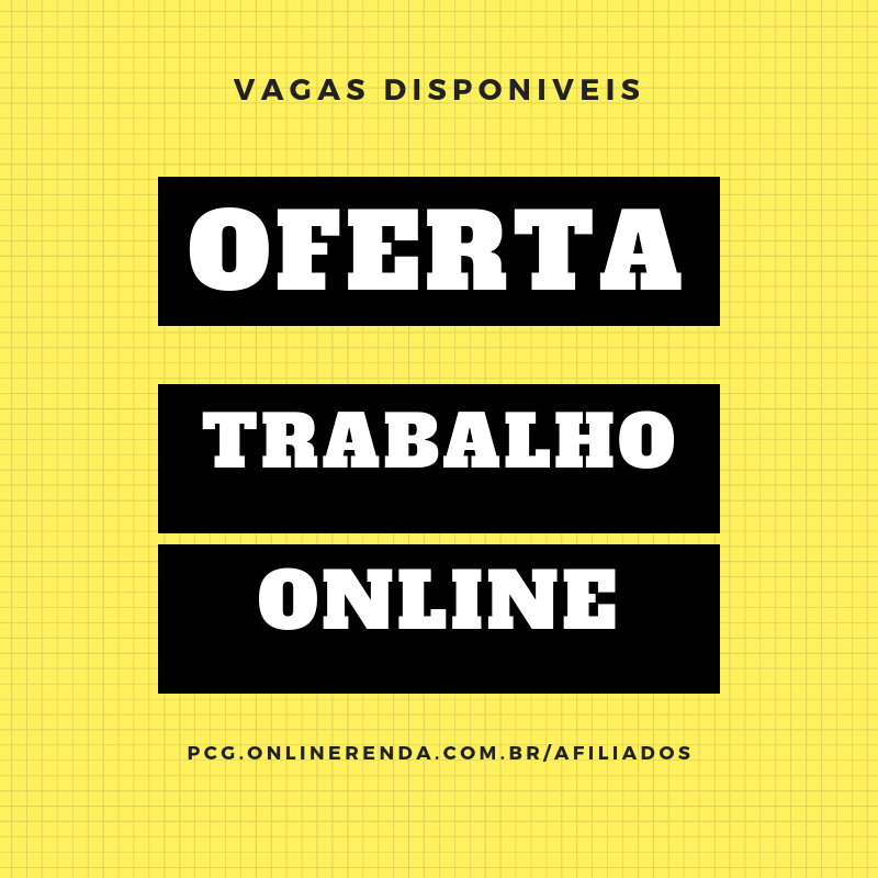 Trabalho Extra Online Home-office vagas disponiveis