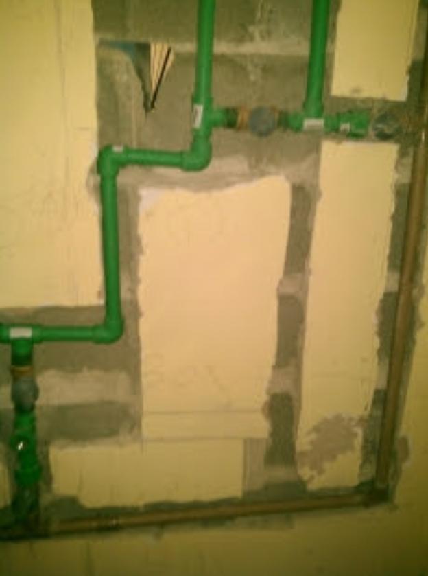 Ligação de Encanamento de agua quente