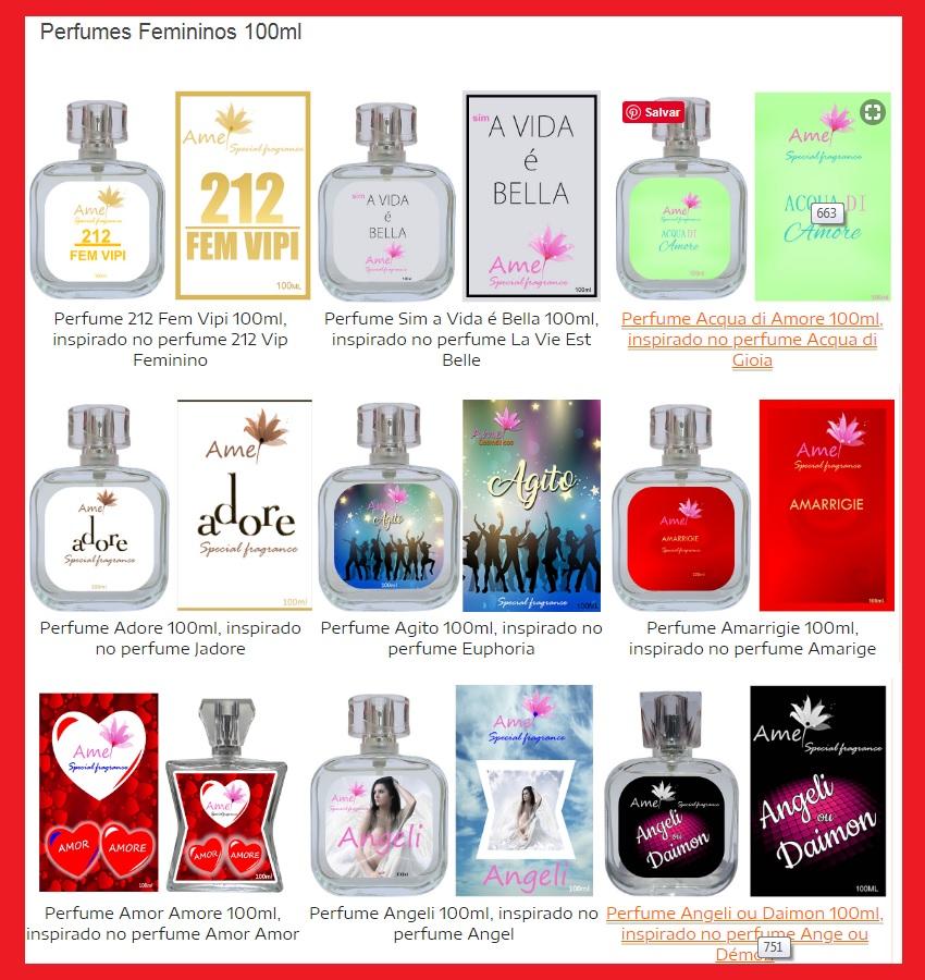 perfumes amei cafofo