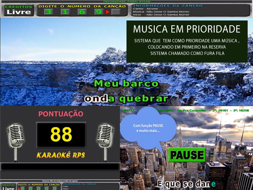 Karaoke sistema de pontuação e configuração completo