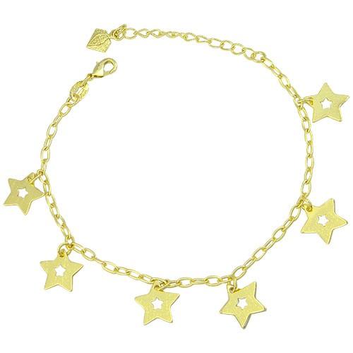 p065_g_Pulseira folheada a ouro com pingentes em forma de estrela