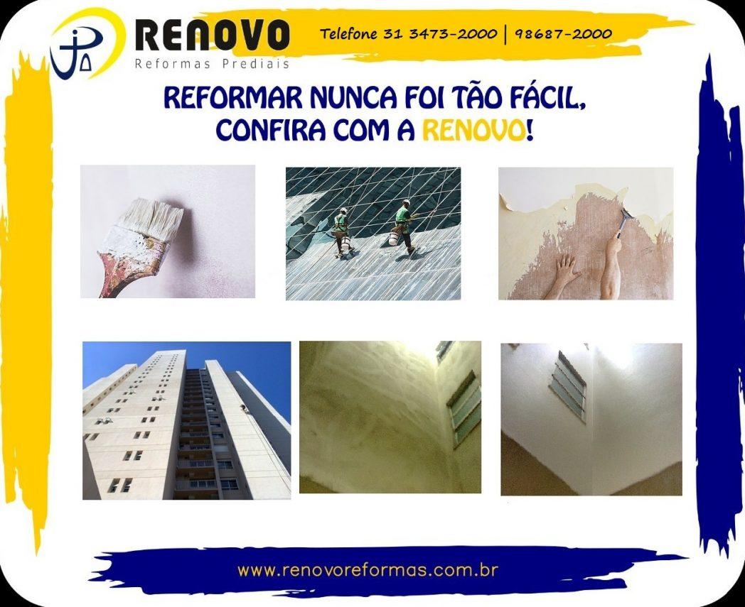 BH Renovo Reforma Predial Retrofit Fachada Edificações em Belo Horizonte