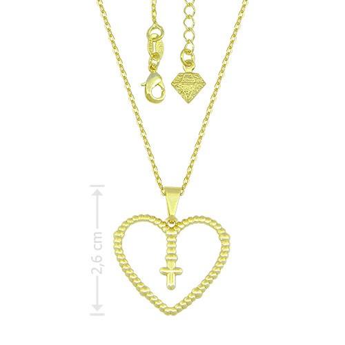 g1560_g_Gargantilha folheada a ouro e pingente em forma de coração com cruz