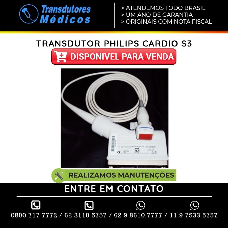 TRANSDUTOR-PHILIPS-CARDIO-S3-VENDAS-E-CONSERTOS