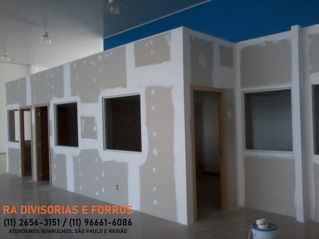 Divisoria de drywall (gesso) em Guarulhos (11) 2656-3151 - (11) 96661-6086