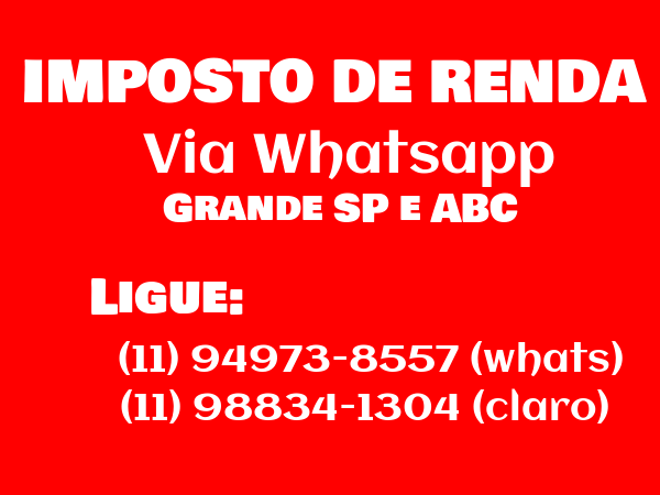 Imposto de Renda Whatsapp