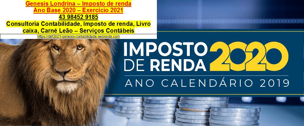 IMPOSTO DE RENDA 2020 - 1 - GENESIS