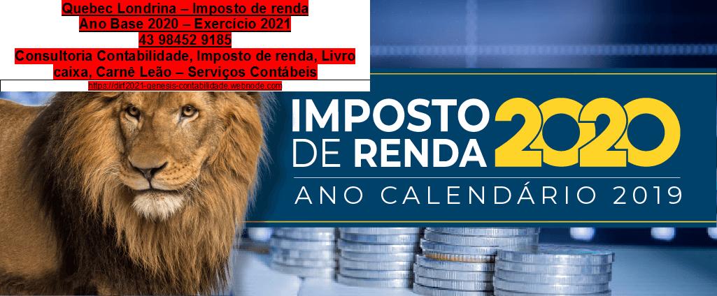 IMPOSTO DE RENDA 2020 - 6