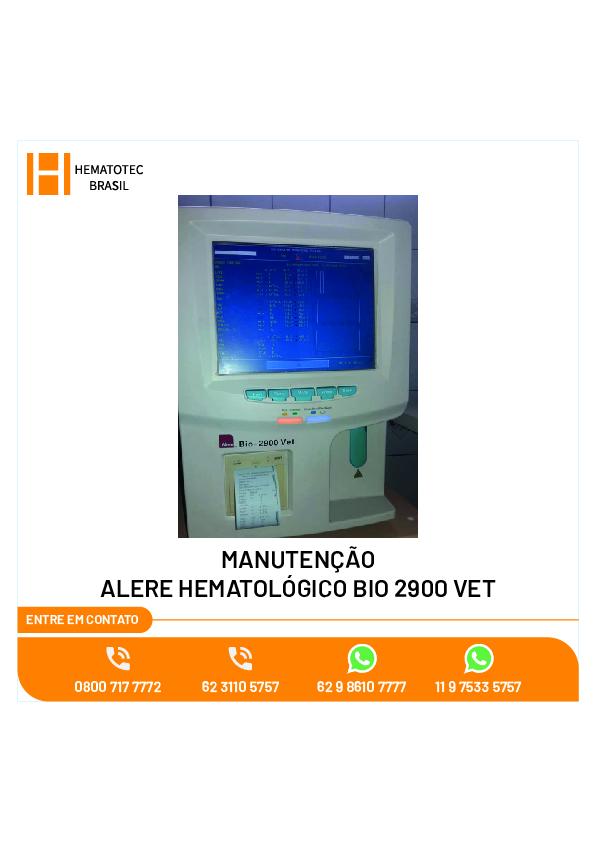 (7)-MANUTENÇÃO ALERE HEMATOLÓGICO BIO 2900 VET