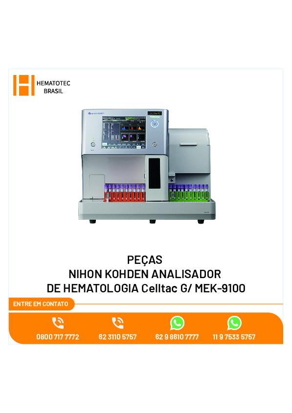 (4)-ASSISTÊNCIA TÉCNICA NIHON KOHDEN ANALISADOR DE HEMATOLOGIA Celltac G MEK-9100_Pecas