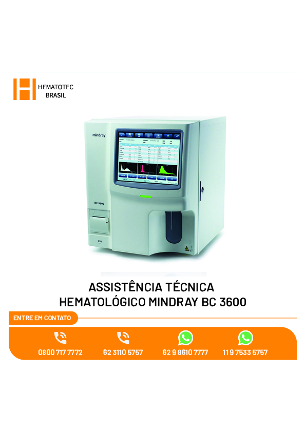 (3)-ASSISTÊNCIA TÉCNICA HEMATOLÓGICO MINDRAY BC 3600